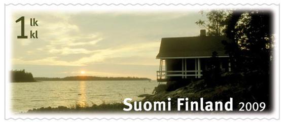 Äänekoskelaissyntyisen Päivi Vainionpään suunnittelema, kesäistä rantasaunaa kuvaava postimerkki valittiin vuoden kauneimmaksi postimerkiksi vuonna 2009.