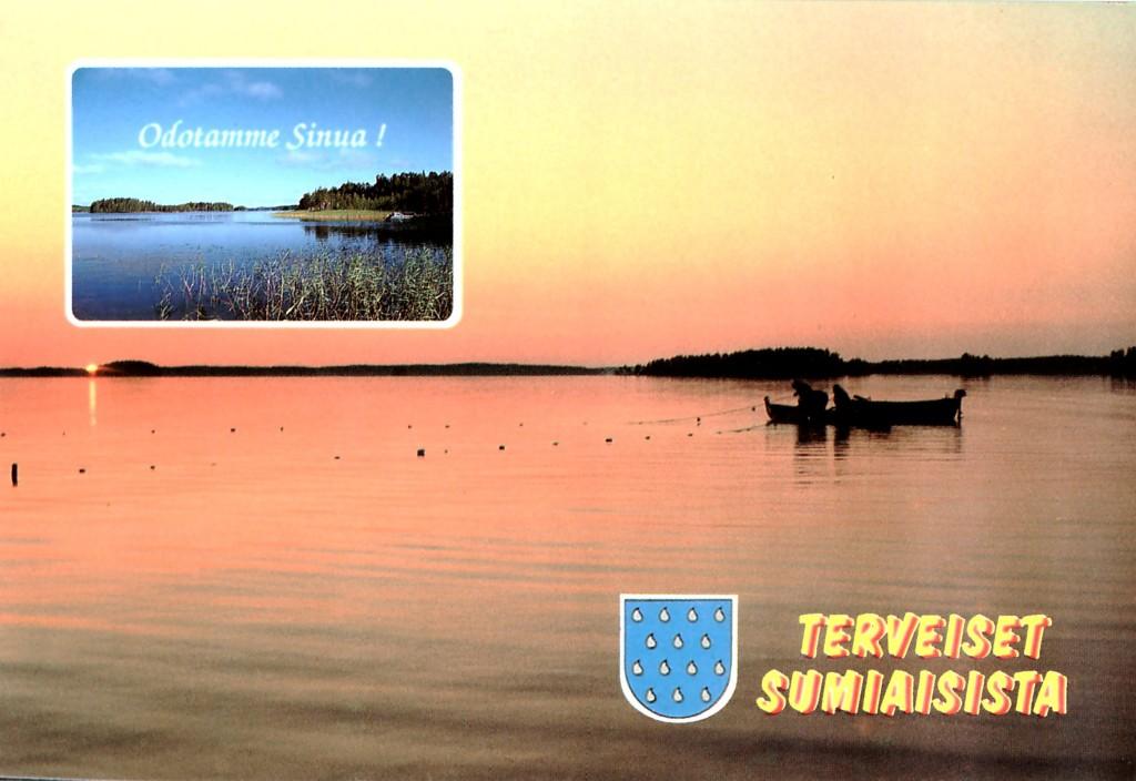 Varsin suosittu oli järvikuvapostikortti, jossa Häyrisen  Pentti vetää nuottaa  yöttömässä yössä.  Henrik de Heij otti tämän vetoavan kuvan.