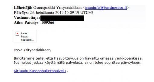 Saitko sähköpostia OPlta? Pankki varoittaa huijauksesta | ÄKS