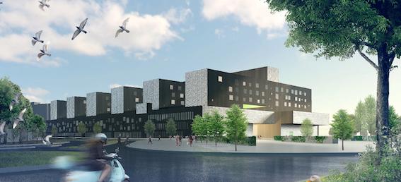 Tältä tulevan sairaalan pitäisi näyttää. © Kuva: JKMM Arkkitehdit Oy