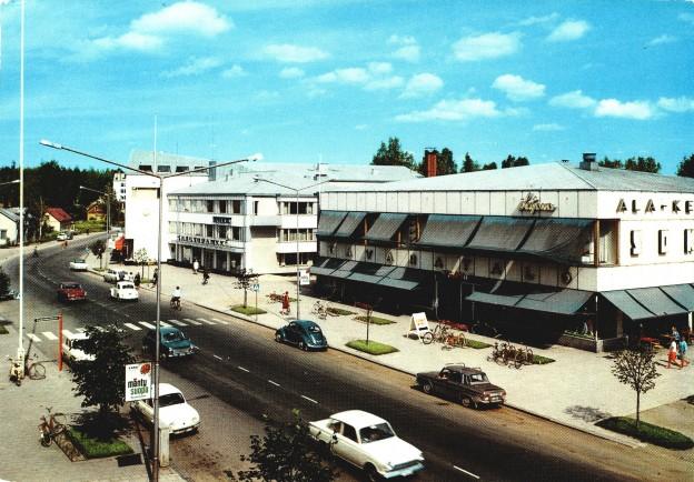 Kauppakadun keskeinen paikka oli 1960 rakennettu Ala -Keitele Sokos  -tavaratalo.