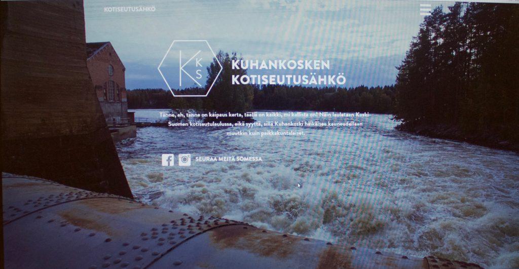 Kuhankosken voimalasta tulevaa Kotiseutusähköä markkinoidaan Keski-Suomen kotiseutulaulun voimalla.
